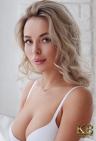 Russian Busty Blonde escort in London